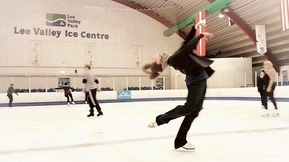 Winter Olympian, Marika Baranova in a layback spin - iceskating.london