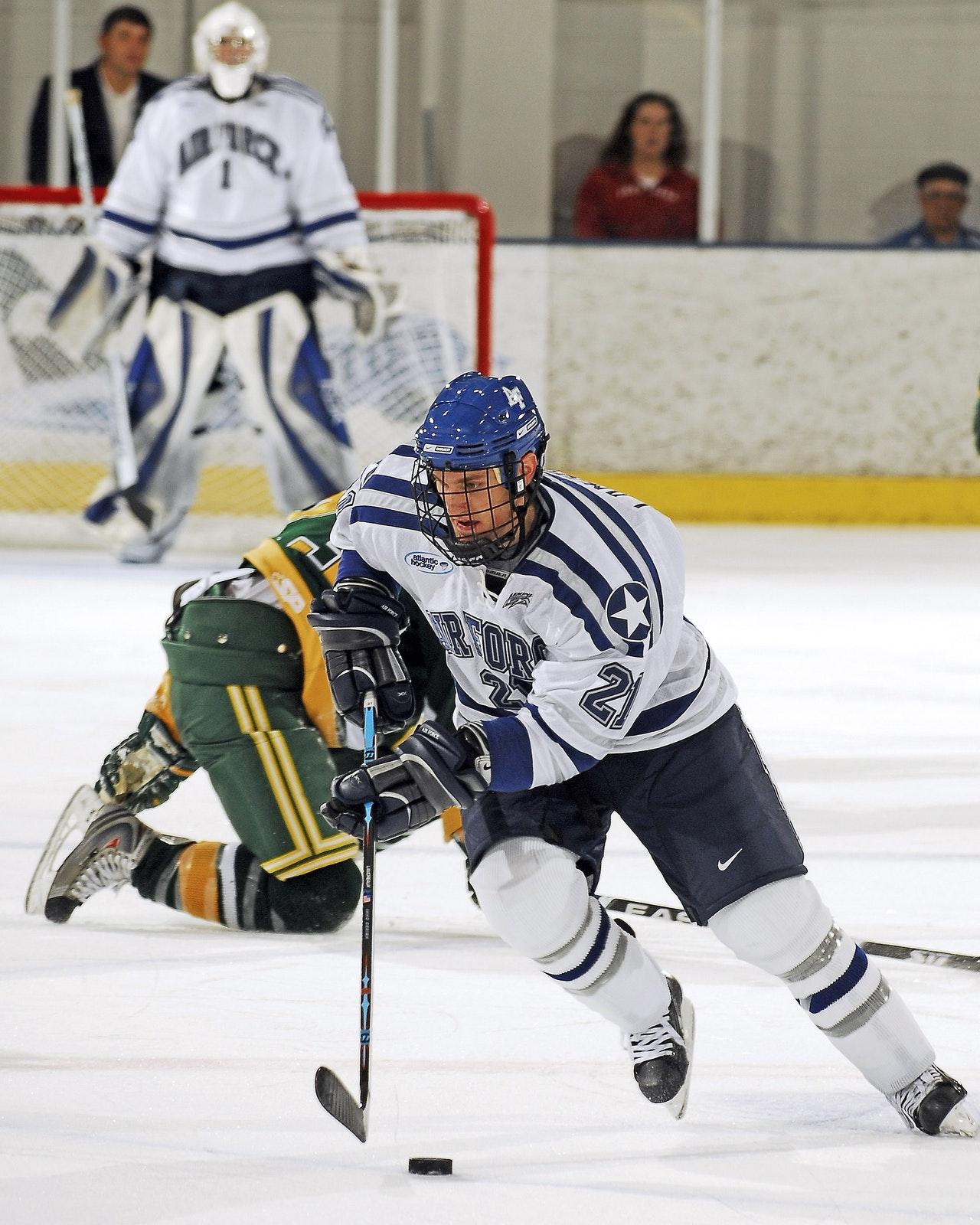 Ice Hockey Game in progress