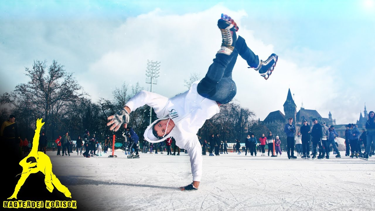 A FreeStyle Skater shows a stunt